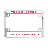 Metal Motorcycle License Plate Frame in Chrome-Trailblazers