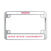 Dixie Metal Motorcycle License Plate Frame in Chrome-Mom