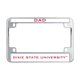 Dixie Metal Motorcycle License Plate Frame in Chrome-Dad