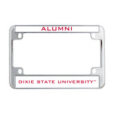 Dixie Metal Motorcycle License Plate Frame in Chrome-Alumni