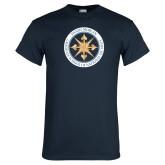 Navy T Shirt-Badge