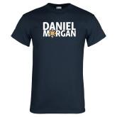 Navy T Shirt-Daniel Morgan w/ Compass