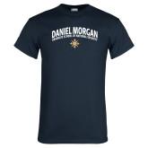 Navy T Shirt-Arched Daniel Morgan w/ Compass