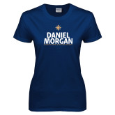 Ladies Navy T Shirt-Daniel Morgan Stacked