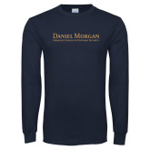 Navy Long Sleeve T Shirt-Wordmark