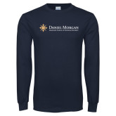 Navy Long Sleeve T Shirt-Primary Mark Flat
