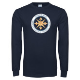 Navy Long Sleeve T Shirt-Badge