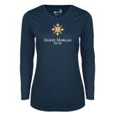Ladies Syntrel Performance Navy Longsleeve Shirt-Mom