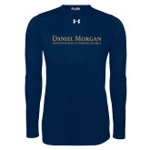 Under Armour Navy Long Sleeve Tech Tee-Wordmark