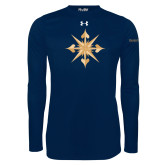 Under Armour Navy Long Sleeve Tech Tee-Compass