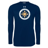Under Armour Navy Long Sleeve Tech Tee-Badge