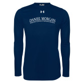Under Armour Navy Long Sleeve Tech Tee-Daniel Morgan Arched