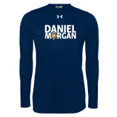 Under Armour Navy Long Sleeve Tech Tee-Daniel Morgan w/ Compass