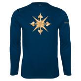 Performance Navy Longsleeve Shirt-Compass