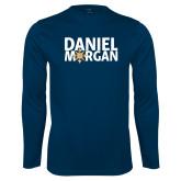 Performance Navy Longsleeve Shirt-Daniel Morgan w/ Compass