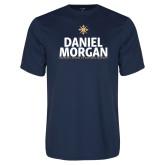 Performance Navy Tee-Daniel Morgan Stacked