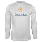 Performance White Longsleeve Shirt-Primary Mark