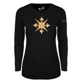 Ladies Syntrel Performance Black Longsleeve Shirt-Compass