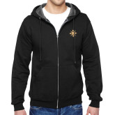 Black Fleece Full Zip Hoodie-Compass