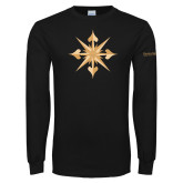 Black Long Sleeve T Shirt-Compass