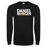 Black Long Sleeve T Shirt-Daniel Morgan w/ Compass