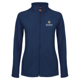 Ladies Fleece Full Zip Navy Jacket-Graduate School of National Security