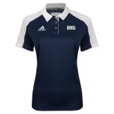 Ladies Adidas Modern Navy Varsity Polo-Daniel Morgan w/ Compass
