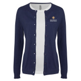 Ladies Navy Cardigan-Graduate School of National Security