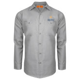 Red Kap Light Grey Long Sleeve Industrial Work Shirt-Graduate School of National Security