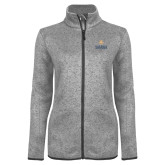 Grey Heather Ladies Fleece Jacket-Graduate School of National Security