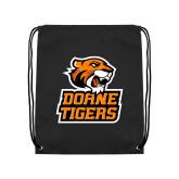Black Drawstring Backpack-Thomas Doanes Tigers