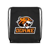 Black Drawstring Backpack-Thomas Doane