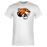 White T Shirt-Thomas Tiger Head