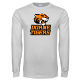 White Long Sleeve T Shirt-Thomas Doanes Tigers