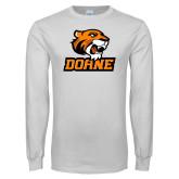 White Long Sleeve T Shirt-Thomas Doane
