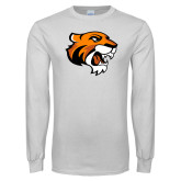 White Long Sleeve T Shirt-Thomas Tiger Head