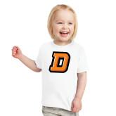 Toddler White T Shirt-Stylized D