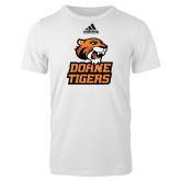 Adidas White Logo T Shirt-Thomas Doanes Tigers