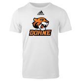 Adidas White Logo T Shirt-Thomas Doane