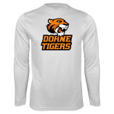 Performance White Longsleeve Shirt-Thomas Doanes Tigers