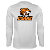 Performance White Longsleeve Shirt-Thomas Doane
