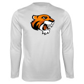Performance White Longsleeve Shirt-Thomas Tiger Head
