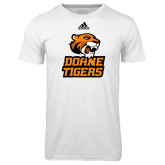 Adidas Climalite White Ultimate Performance Tee-Thomas Doanes Tigers