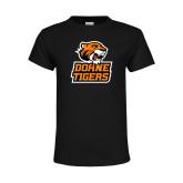 Youth Black T Shirt-Thomas Doanes Tigers