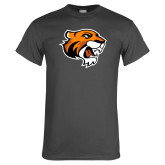 Charcoal T Shirt-Thomas Tiger Head