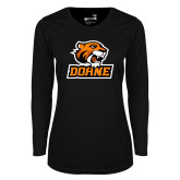 Ladies Syntrel Performance Black Longsleeve Shirt-Thomas Doane