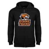 Black Fleece Full Zip Hoodie-Thomas Doanes Tigers