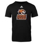 Adidas Black Logo T Shirt-Thomas Doanes Tigers