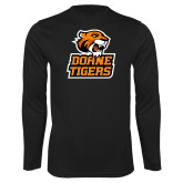 Performance Black Longsleeve Shirt-Thomas Doanes Tigers