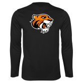 Performance Black Longsleeve Shirt-Thomas Tiger Head